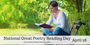 National Great Poetry Reading Day - April 28