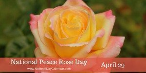 National Peace Rose Day - April 29
