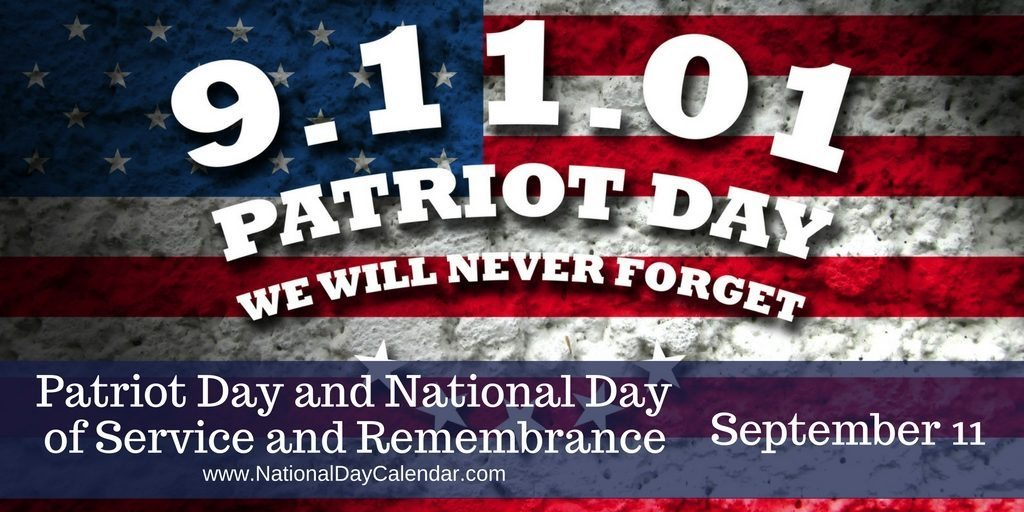Patriot Day and National Day of Service and Remembrance September 11
