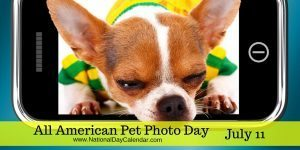 All American Pet Photo Day July 11